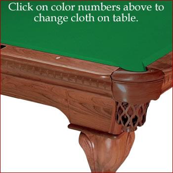 Championship billiard cloth valley teflon ultra for 10 foot table cloth