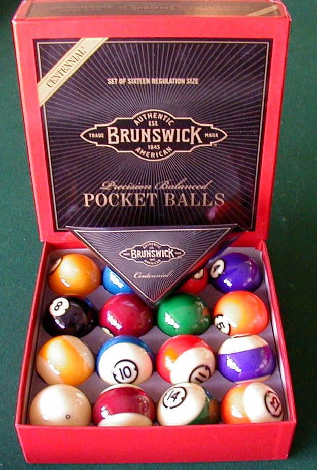 Brunswick Centennial Pool Balls