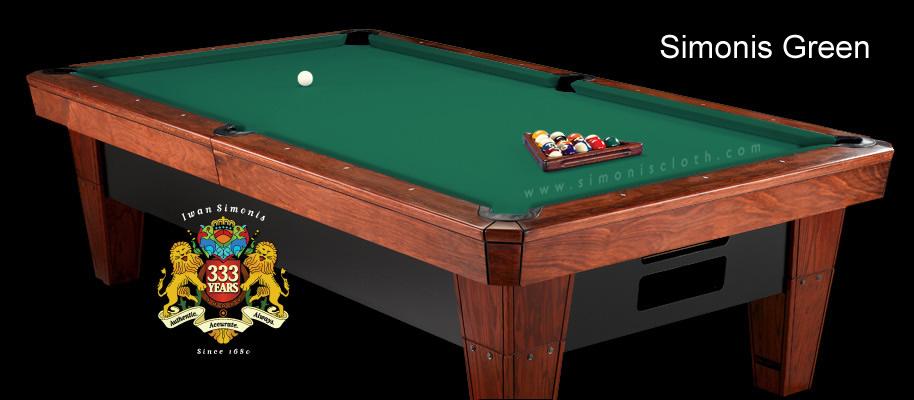 Championship Invitational 8 Oversized Burgundy Pool Table Felt