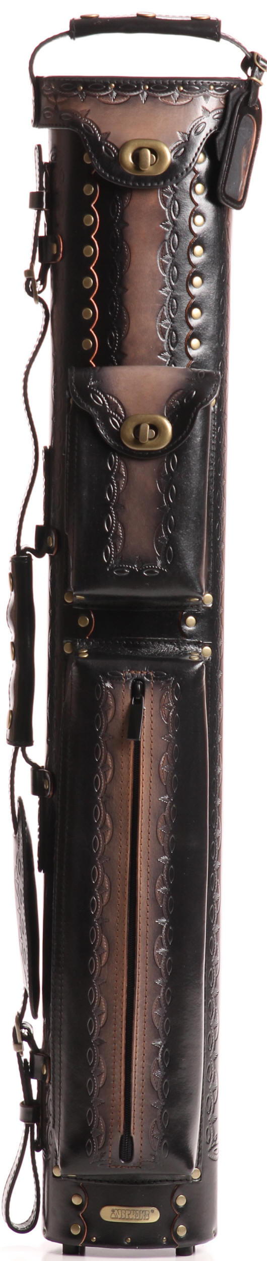 Instroke Saddle Series Leather Pool Cue Cases D01 Black