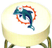MIAMI DOLPHINS BAR STOOL