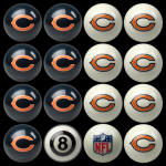 CHICAGO BEARS HOME & AWAY BILLIARD BALL SET