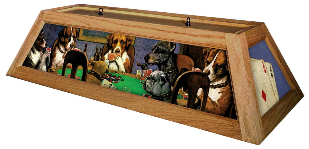 Poker Dogs Billiard Light
