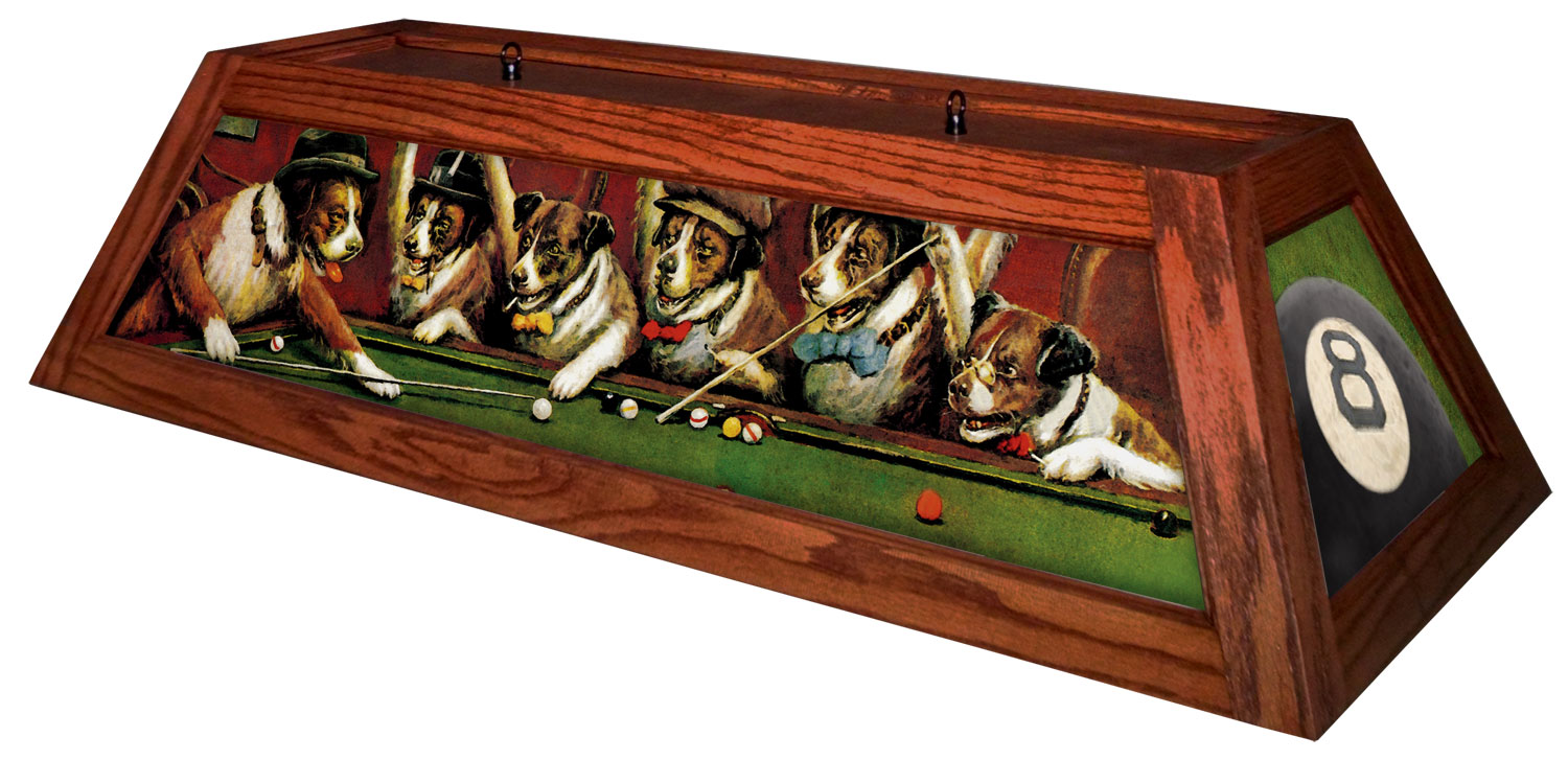 Pool table lights by boubon street billiard lighting dogs dogs playing pool billiard light greentooth Choice Image