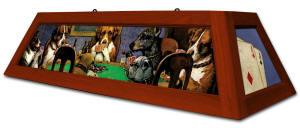 Dogs Playing Poker Pool Table Light